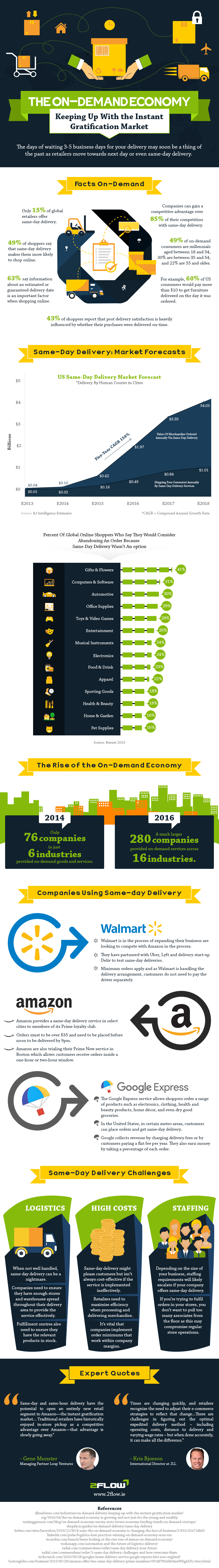 The Rise of Same-Day & Next Day Delivery Infographic